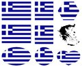 Greece flag and map - country in Europe Royalty Free Stock Photo