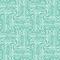 Vector fine woven texture seamless pattern background. Organic brush stroke effect cloth backdrop. Turquoise square Royalty Free Stock Photo