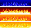 Vector fire banners Stock Photos