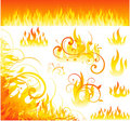 Vector fire designs Royalty Free Stock Image