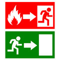 Vector fire exit signs set Royalty Free Stock Image