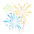 Vector firework Royalty Free Stock Photo