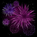 Vector fireworks Stock Images
