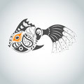 Vector fish picture with bizarre Stock Photography