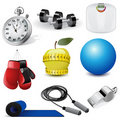 Vector fitness icons Stock Images