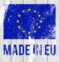 Vector flag of the European Union Royalty Free Stock Photo