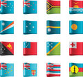 Vector flags. Oceania, part 12 Royalty Free Stock Photo
