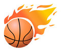 Vector Flaming Basketball Stock Photo