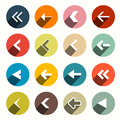 Vector Flat Design Arrows with Shadows Set Royalty Free Stock Photo
