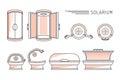 Vector flat design Sun Bath Solarium