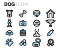 Vector flat dog icons set Royalty Free Stock Photo