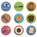 Vector flat food circle icon set eps see my other works in portfolio Stock Image