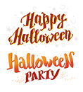 Vector flat halloween card, advertisement, banner, poster, placard, party invitation, flayer design element. Royalty Free Stock Photo