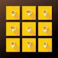Vector flat icon set map pins pin collection Royalty Free Stock Photography