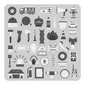 Vector of flat icons, Firefighting set