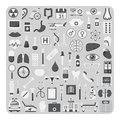 Vector of flat icons, Medical set