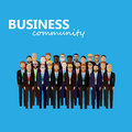Vector flat  illustration of business or politics community Royalty Free Stock Photo