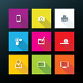 Vector flat media icon set illustration Royalty Free Stock Images