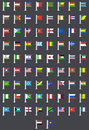 Vector flat modern flags of the world this is file eps format Royalty Free Stock Image