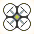 Vector flat quadcopter drone illustration