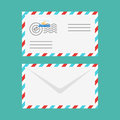 Vector flat style illustration of postal envelope.