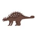 Vector flat style illustration of prehistoric animal - Ankylosaurus.