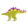 Vector flat style illustration of prehistoric animal - Stegosaurus.