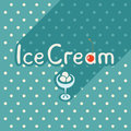 Vector flat style posters with ice cream