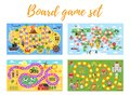 Set of kids boardgame; Royalty Free Stock Photo