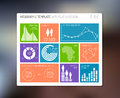 Vector flat user interface infographic ui template design Stock Photos