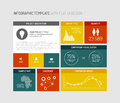 Vector flat user interface infographic ui template design Royalty Free Stock Image