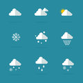 Vector flat of weather set