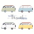 Vector flat web banner on the theme of Road trip.