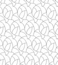 Vector floral background of drawn lines