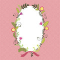 Vector floral border Royalty Free Stock Photos