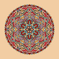 Vector floral colorful mandala. Beautiful design element in ethnic style Royalty Free Stock Photo
