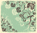 Vector floral decoration .Vintage Stock Images