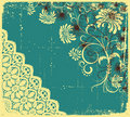 Vector floral decoration .Vintage Stock Image