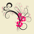 Vector floral design Stock Images