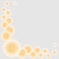 Vector floral design with stylized gentle camomile Stock Image