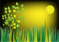 A Vector - Floral-Grass Illustration Stock Images