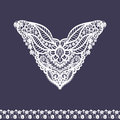 Vector floral neckline and lace border design for fashion flowers and leaves neck print chest lace embellishment ethnic indian Royalty Free Stock Images