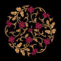 Vector Floral Ornament Royalty Free Stock Images