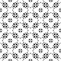 Vector floral ornament, ornamental seamless pattern