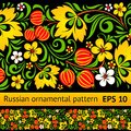 Vector floral ornamental pattern Royalty Free Stock Photo