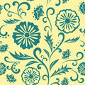 Vector floral ornate seamless pattern endless can be used for web design wallpaper printing on the surface paper or Royalty Free Stock Photos