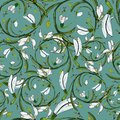 Vector floral pattern snowdrops copy