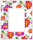 Vector floral photo frame Royalty Free Stock Photo