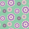 Vector Floral seamless colored pattern, decorative ornament, vector design Royalty Free Stock Photo