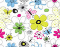 Vector floral seamless pattern Royalty Free Stock Photos